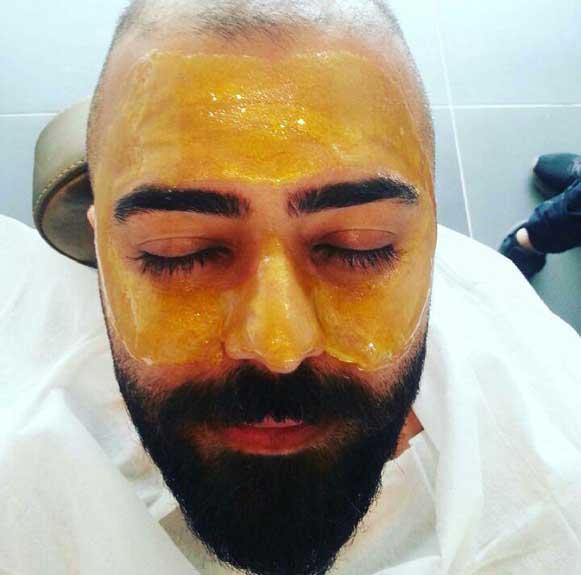 ماسک طلای صورت
