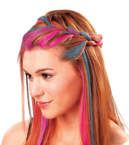 گچ رنگ مو هات هیوز - hair chalk hot huez