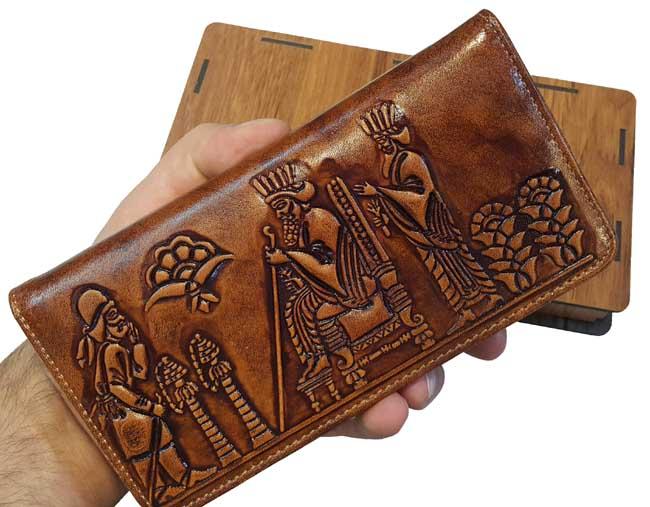کیف پول پسرانه چرمی اصل تخت جمشید فروهر
