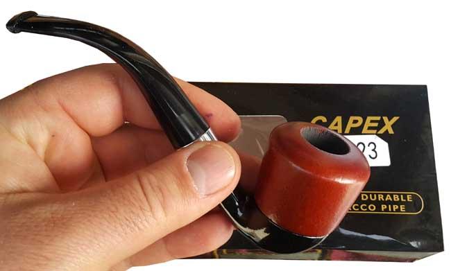 پیپ با جعبه اورجینال چنگ فنگ و کپکس pipe chang Fang Capex CX-23
