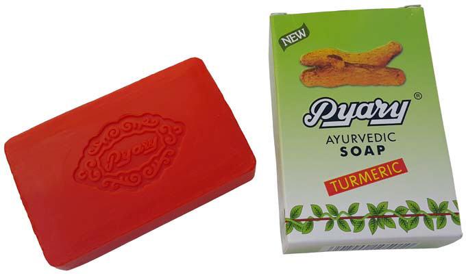 صابون گیاه زردچوبه pyary turmeric ayurvedic soap