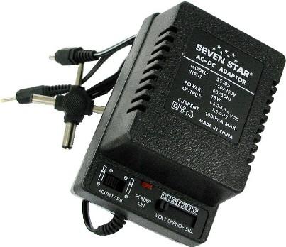 آداپتور چندحالته 1.5 تا 12 ولت با ولتاژ متغیر