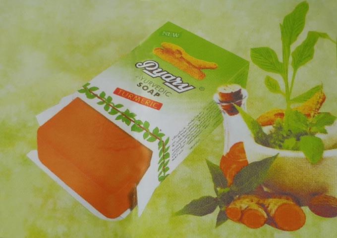 صابون زردچوبه اصل pyary turmeric ayurvedic soap